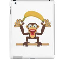 Funny cartoon monkey iPad Case/Skin