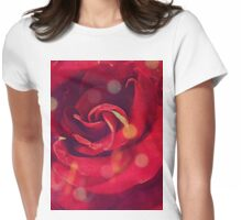 Vintage Rose 3 Womens Fitted T-Shirt