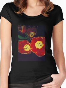 Vintage Tulips Women's Fitted Scoop T-Shirt