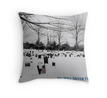 We Will Never Forget - Poster Throw Pillow