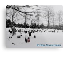 We Will Never Forget - Poster Metal Print