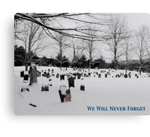 We Will Never Forget - Poster Canvas Print