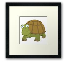 Friendly cartoon turtle Framed Print