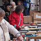 Choosing books Clunes Book Festival Victoria by jackgreig