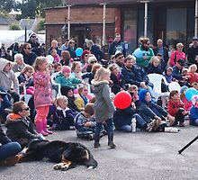 Entertaining the crowd Clunes Book Festival Victoria by jackgreig