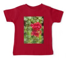 Wet red roses 5 Baby Tee
