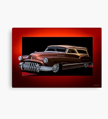 1950 Buick Custom Woody Wagon Canvas Print