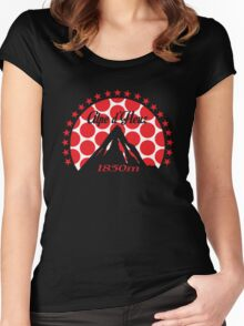 Alpe d'Huez (Red Polka Dot) Women's Fitted Scoop T-Shirt