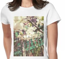 White Plum Blossoms 2 Womens Fitted T-Shirt
