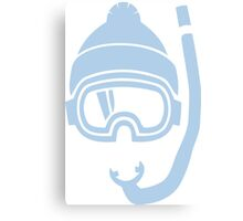 Snorkel deep powder snow Canvas Print