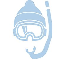 Snorkel deep powder snow Photographic Print