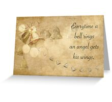 It's a Wonderful Life inspired Christmas card. Greeting Card