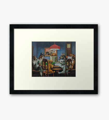 Dogs Playing D&D Framed Print