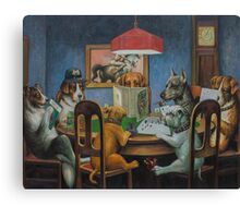 Dogs Playing D&D Canvas Print