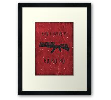 'Die Hard' Inspired Christmas Card Framed Print