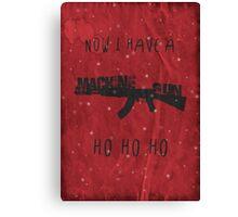 'Die Hard' Inspired Christmas Card Canvas Print