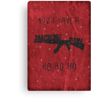 'Die Hard' Inspired Christmas Card Canvas Print