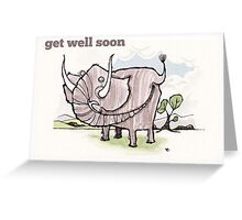Elephant get well card Greeting Card
