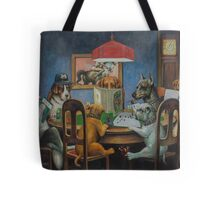 Dogs Playing D&D Tote Bag