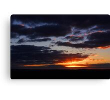 Crepuscular Rays At Sunrise  Canvas Print