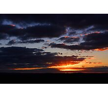 Crepuscular Rays At Sunrise  Photographic Print