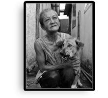 Lady of the slum Canvas Print