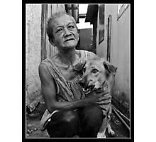 Lady of the slum Photographic Print