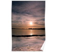 Pitsford Reservoir Sunset Poster