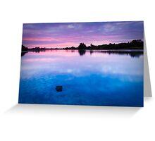 Dawn at Duston Mills Reservoir Greeting Card