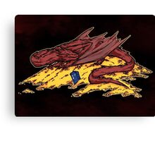 Smaug's treasure Canvas Print