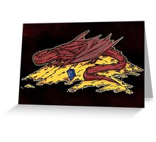 Smaug's treasure Greeting Card