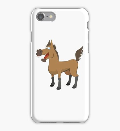 Funny cartoon horse iPhone Case/Skin