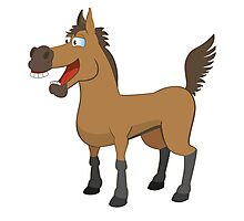 Funny cartoon horse Photographic Print