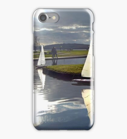 Aubery Boating Pond, Largs, North Ayrshire, Scotland iPhone Case/Skin