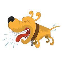 Barking funny cartoon dog by berlinrob