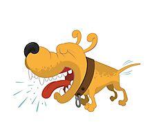 Barking funny cartoon dog Photographic Print