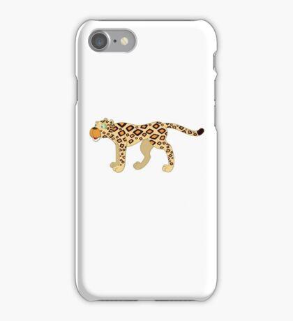 Funny cartoon cheetah iPhone Case/Skin