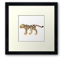 Funny cartoon cheetah Framed Print