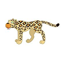 Funny cartoon cheetah Photographic Print