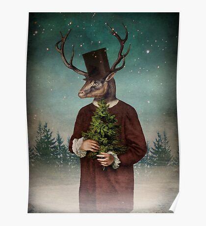 Mr Reindeer Poster