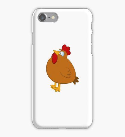Funny cartoon chicken iPhone Case/Skin