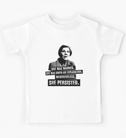 Elizabeth Warren: She Persisted Kids Tee