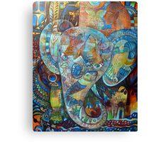 INDIGO ELEPHANT  Canvas Print