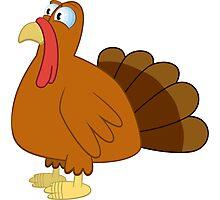 Cute cartoon turkey Photographic Print