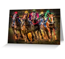 Race To The Finish Greeting Card