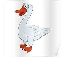 Friendly cartoon goose Poster