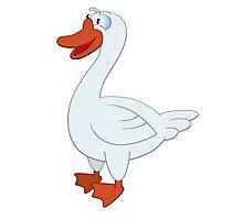 Friendly cartoon goose Photographic Print