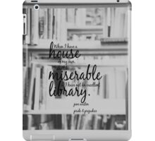 Jane Austen Library iPad Case/Skin