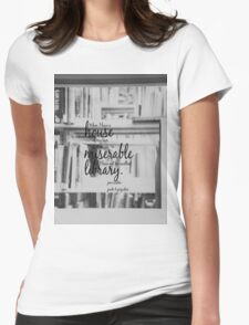 Jane Austen Library Womens Fitted T-Shirt