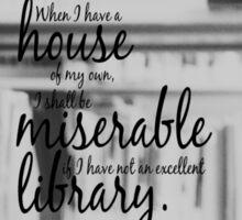 Jane Austen Library Sticker